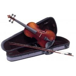 """Violines """"CARLO GIORDANO"""" VS0 iniciacion, abeto macizo, completo, acabado envejecido satinado con estuche ligero"""