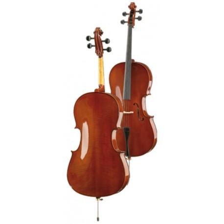 "Cello ""Höfner-Alfred"" S.60 totalmente macizo con arco y funda"