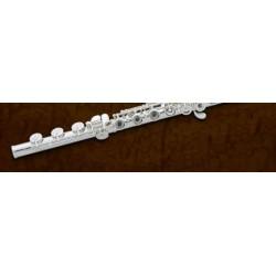 flauta travesera estudio Pearl 695R cab.plata alineadas pl.abiertos puente frances
