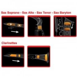 SAX MUTE SORDINAS MULTIPLE PARA SAXO SOPRANO 723.000 REDUCE 50%