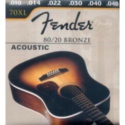 CUERDAS ACUSTICA FENDER 70-XL EXTRA LITE 010-048