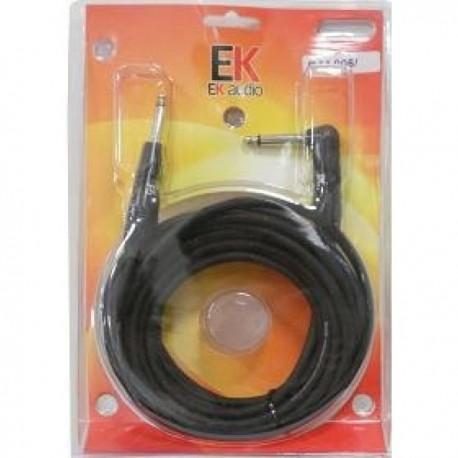 Cables guitarra EK AUDIO PJJ0063 recto acodado 3 mts