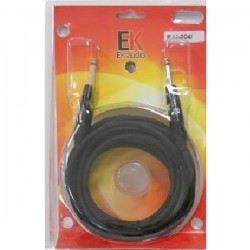 cables guitarra EK AUDIO JJ0066 recto 6mts