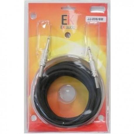 cables guitarra EK AUDIO JJJ0046 recto 6 mts