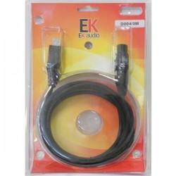 cables EK AUDIO D004 USB-XLR 3 mts