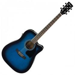 Guitarra Acustica ACADEMY cutaway azul