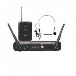 SISTEMA VHF MICROFONÍA INALÁMBRICA VHF-18 Sistema de Cabeza completo