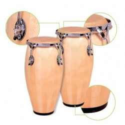 """Congas """"STRONG"""" 11 3/4""""+12 1/2"""" Natural"""