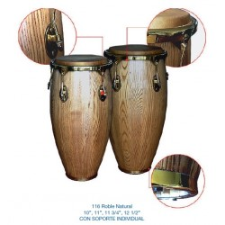 """Congas """"STRONG"""" 10""""+11"""" Roble"""